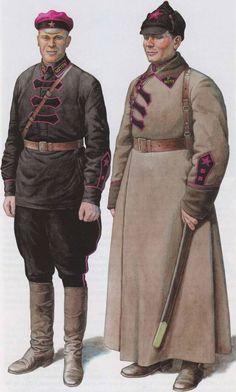 CHEKISTS. Uniforms of the GPU-OGPU. 1922-1934 Сотрудники ТОГПУ в форме одежды, установленной приказом ГПУ от 28 февраля 1923 г. № 86. (По рис. В. Куликова)