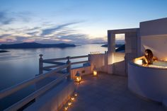"""What an amazing view!  (""""Adamant Suites"""" on Santorini island ~ Greece)"""