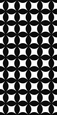 Seamless monochrome shape pattern