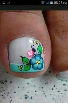 French Pedicure, Pedicure Nail Art, Toe Nail Art, Mani Pedi, Toe Nails, Manicure, Fingernail Designs, Toe Nail Designs, New Nail Art Design