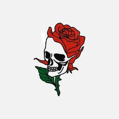 32 Ideas For Drawing Skull Rose Death Dibujos Tattoo, Desenho Tattoo, Tattoo Sketches, Tattoo Drawings, Art Drawings, Deep Tattoo, Emo Pictures, Skull Girl Tattoo, Traditional Tattoo Old School