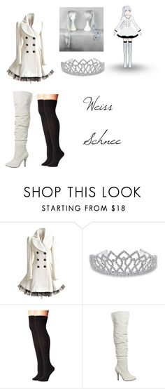 """Weiss Schnee Cosplay"" by lord-nightshade on Polyvore featuring Bling Jewelry, Hue, white and RWBY"