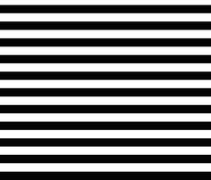Black and white stripes fabric by >>mintpeony<< on Spoonflower - custom fabric