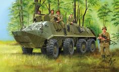 The Trumpeter Russian from the plastic military model kits range accurately recreates the real life Russian armoured personnel carrier. This model requires paint and glue to complete. Gt R, Btr 60, Military Armor, Military Car, Armoured Personnel Carrier, Armored Fighting Vehicle, Deck, Modern Artwork, Red Army