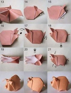 paso a paso puedes crear un pequeño cerdito y practicar un poco de origami, una actividad que te distraerá y e ntretendra