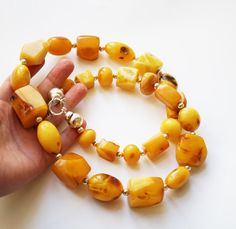 Huge Vintage Necklace Baltic Amber 178g by AmberLovers20 on Etsy                                                                                                                                                                                 More