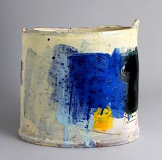 Vessel with Blue and Yellow by Barry Stedman