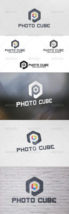 Photo Cube - Logo Template by martinjamez 100 Vector File Format :EPSColor Mode :CMYKFont used :4th and Inches Download Link : http://www.dafont.com/4th-and-inches.font
