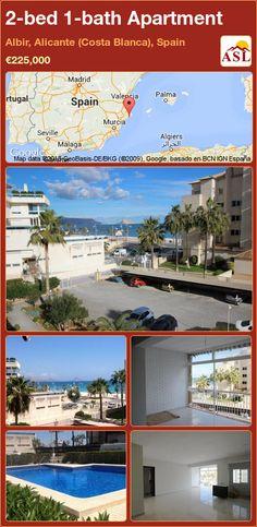 Apartment for Sale in Albir, Alicante (Costa Blanca), Spain with 2 bedrooms, 1 bathroom - A Spanish Life Apartments For Sale, Murcia, Alicante, Seville, Malaga, Mountain View, Open Plan, Terrace, Sevilla