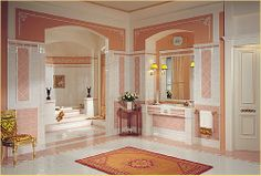 Discover all the information about the product Indoor tile / bathroom / floor / ceramic CELEBRITY : ROSA - Versace Ceramics and find where you can buy it. Luxury Bathroom, Top 10 Bathrooms, Home, Bathroom Floor Tiles, Royal Bathroom, Gorgeous Bathroom, Versace Home, Bathroom Design, Bathroom Flooring