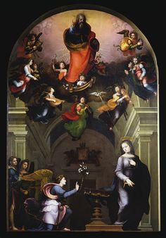 The Annunciation / La Anunciación / Annunciazione // 1510 // Mariotto Albertinelli // Galleria dell'Accademia di Firenze // #AveMaria