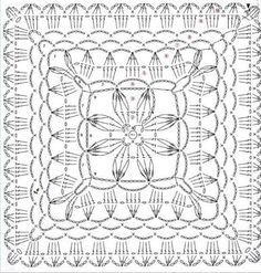 Crochet Motif + Diagram
