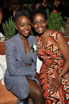 Lupita and her mama! Photo Credit: Getty Images
