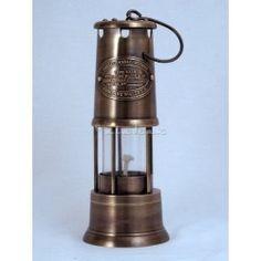 Vintage Brass Miner Lamp