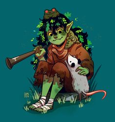 Dungeons And Dragons Characters, D D Characters, Fantasy Characters, Fantasy Character Design, Character Inspiration, Character Art, Gremlins, Dnd Druid, Goblin Art