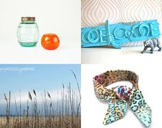 Blue and few oranges by Nonna Soul on Etsy--Pinned with TreasuryPin.com #etsy #etsytreasury #etsyshopping #gifts