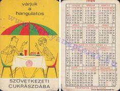 1964 - 1964_0152 - Régi magyar kártyanaptárak Pocket Calendar, Retro, Cover, Books, Cards, Pockets, Pocket Diary, Libros, Book