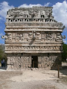 Mayan: Structures featured writing systems of hieroglyphics represent phonetic sounds combined with pictures to form words.