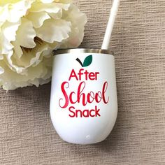 # DIY Gifts for teachers After School Snack Wine Glass/Teacher Gifts/Gifts for Teacher/Teacher Wine Glass/Teacher Tumbler/End of School Teacher Gifts Teacher Christmas Gifts, Christmas Fun, Holiday Gifts, Valentines For Teacher, Homemade Christmas, Christmas Coffee, Christmas Cooking, Christmas Desserts, Christmas Projects