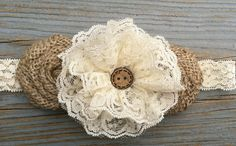 Cream Flower Girl Headband Rustic Headband/Country Wedding/Shabby Chic Headband/Rustic Wedding/Shabby Chic Flower Girl by CountryCoutureCo on Etsy https://www.etsy.com/listing/186668401/cream-flower-girl-headband-rustic