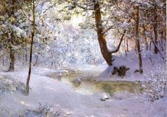 Walter Launt Palmer (American painter, 1854-1932) Snow Laden  More beautiful forest