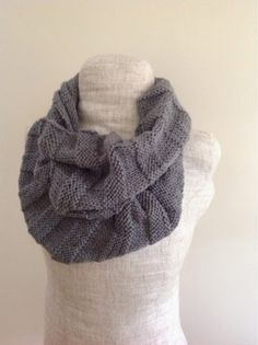 This simple grey infinity scarf will keep you warm, while adding a nice touch to your ensemble. Grey goes with almost everything, so this is...