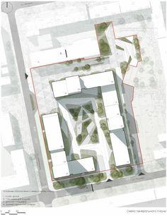 Concept Board Architecture, Architecture Site Plan, Masterplan Architecture, Healthcare Architecture, Landscape Architecture Design, Architecture Graphics, Architecture Portfolio, Landscape Concept, Parking Design