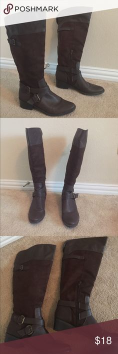 Brown Style and Co riding boots Brown Style and Co Riding Boots Style & Co Shoes Heeled Boots