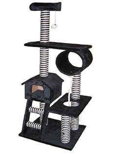 60 Inch Cat Gym Play Center - I *love* the black & white stripes! $112