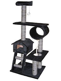 60 Inch Cat Gym Play Center - I *love* the black & white stripes! $112