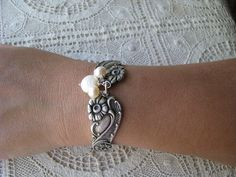 Spoon Bracelet  Spoon Jewelry  Antique Silver by TheBeadLadies, $36.00