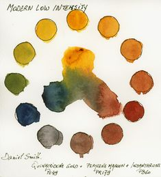 Low Intensity Triad with Daniel Smith Watercolors