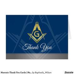 Masonic Thank You Cards | Custom Freemason Card | Zazzle com