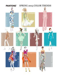 Trending: Pantone's Spring 2015 Color Trend Report on The Curvy Fashionista 2015 Color Trends, Safari, Plus Size Fashion Tips, Spring 2015 Fashion, Pantone Color, Pantone 2015, Fashion Painting, Curvy Fashion, Women's Fashion