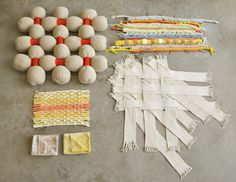Graduation collection 'Draad' - design by Sanne van den Hoogen Weaving Textiles, Textile Fabrics, Weaving Art, Textile Art, Textiles Techniques, Weaving Techniques, Embroidery Techniques, Textile Manipulation, Fabric Manipulation Tutorial
