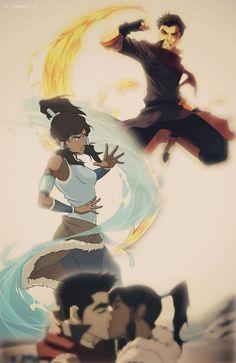 Korra and Mako by BeSlytherin.deviantart.com