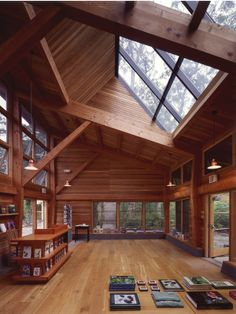 Polly Hill Arboretum Visitors Center, Martha's Vineyard, Charles Rose Architects on the Behance Network Cabins In The Woods, House In The Woods, Future House, Interior Architecture, Interior Design, Sustainable Architecture, Timber House, My Dream Home, House Plans