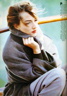 ☆ Tatjana Patitz   Photography by Javier Vallhonrat   For Vogue Magazine UK   October 1991 ☆ #tatjanapatitz #javiervallhonrat #vogue #1991