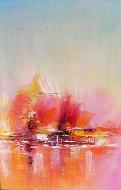 ORIGINAL Oil Painting Surfing in my Dreams 23 x 36 Palette Knife Colorful Textured Abstract Modern Contemporary Pink ART by Marchella. $265.00, via Etsy. ...BTW,Check this out: http://artcaffeine.imobileappsys.com