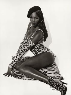 Naomi Campbell for Azzedine Alaia by Herb Ritts, 1991.