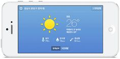 Naver Mobile Weather by Jung Young Lee, via Behance