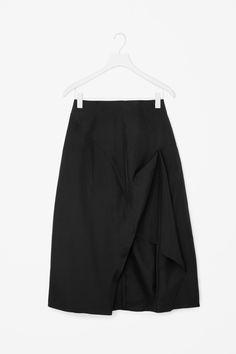 COS | Draped silk skirt