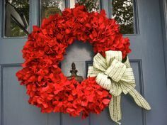 Holiday Red Hydrangea Wreath with Festive by MonicaMurrayHome, $70.00