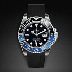 Rolex GMT Master II CERAMIC Velcro® Series With Vulcanized Rubber B Strap