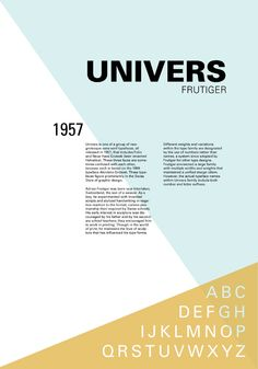 Univers- designed by Adrian Frutiger. I like the use of opaque triangles to add dimension to the plain text.