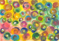 Arte moderna. Aquarela sobre papel - 20x30. Repetição 2011