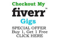 My Best Fiverr Gigs. CLICK on the Pin and Then CLICK AGAIN for Details :)