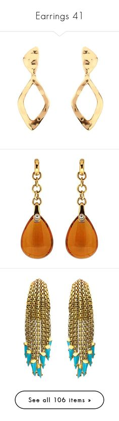 """""""Earrings 41"""" by coollavinia ❤ liked on Polyvore featuring jewelry, earrings, drop earrings, yellow, diamond earrings, gold diamond earrings, yellow gold drop earrings, gold post earrings, fine jewelry and dangle earrings"""
