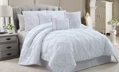 Groupon - Chic Emma 6- or 7-Piece Luxury Comforter Sets (Up to 77% Off). Multiple Colors Available. Free Shipping and Returns. in Online Deal. Groupon deal price: $69.99