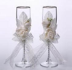 Como decorar copas para boda :lodijoella